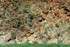 Geological stratums stock image