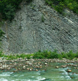 The geological structure of Carpathian mountains in Ukraine Stock Images
