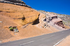 Geological structures La Palma Stock Photo
