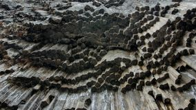 Geological structures of volcanic activity stock photos