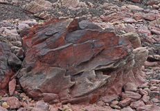 Geological study cliff face, pembrokeshire, wales. Stock Photos