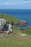 Geological study and seascape of cliffs, pembrokeshire, wales. Royalty Free Stock Images