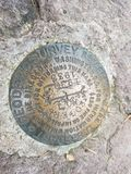 Geological Survey Marker Mount Roger& x27;s Virginia royalty free stock image