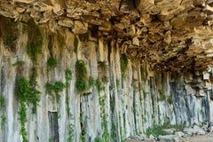 Geological `Symphony of the Stones` Garni, Armenia. `Symphony of the Stones` geological rock formation basalt columns in the gorge near Garni, Armenia stock photos