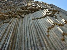 Geological Symphony of the Stones` Garni, Armenia. `Symphony of the Stones` geological rock formation basalt columns in the gorge near Garni, Armenia royalty free stock photos