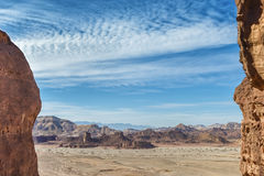 Geological valley in Timna park, Israel Stock Photo