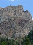 Geologiczny nawarstwianie przy bazą Gran Vernel Fotografia Stock