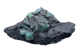 Geologie: Beryl im Glimmer lizenzfreies stockfoto