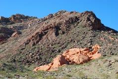 Geologie von Pinto Valley-Geologie im See Mead Recreational Area, Nevada Lizenzfreie Stockbilder