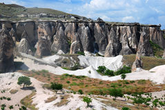 Geologielandschaft in Capadocia lizenzfreie stockfotografie