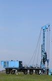Geologii i eksploracja złóż ropy naftowej wiertniczego takielunku pojazd zdjęcia stock