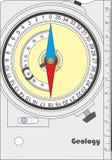 Geologisch kompas Royalty-vrije Stock Foto