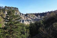 Geologisch standpunt met sedimentaire kleurenvariaties royalty-vrije stock fotografie