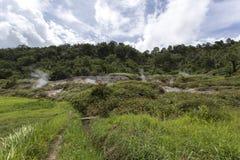 Geologische activiteiten bij Linau-meer Royalty-vrije Stock Afbeelding