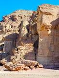 Geologische Anordnung im Timna Park, Israel Lizenzfreie Stockfotos