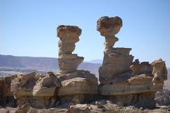 Geologische Anordnung, Ischigualasto Lizenzfreies Stockbild