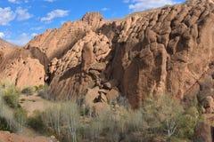 Geologische Felsen Dades-Tales Stockfotografie