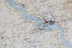 Geologische Karte von Pakxe Lizenzfreie Stockfotos