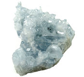Geologische Kristalle der Celestitedruse Stockfotos
