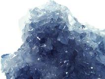 Geologische Kristalle der Celestitedruse Lizenzfreie Stockfotos