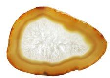 Geologische Kristalle der gelben Achatdruse Stockfotografie