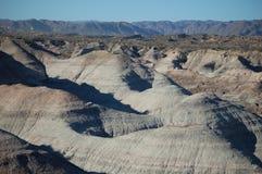 Geologische rotsvormingen in park Ischigualastonational stock fotografie