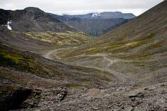 Geologische Straße in Khibini Lizenzfreie Stockfotos