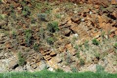 Geologische stratums stockbild