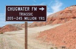 Geologisches Hinweiszeichen Lizenzfreie Stockbilder