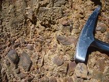 Geologisk hammare arkivbild