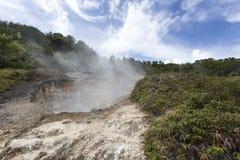 Geologiska aktiviteter på Linau sjön Royaltyfria Bilder
