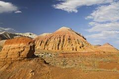 Geologiska bildande i Aaktau berg, Kasakhstan Arkivbild