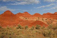 Geologiska bildande i Aaktau berg, Kasakhstan Royaltyfria Bilder