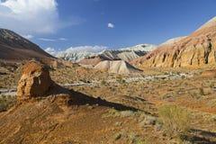 Geologiska bildande i Aaktau berg, Kasakhstan Royaltyfria Foton