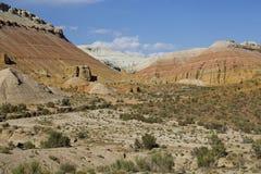 Geologiska bildande i Aaktau berg, Kasakhstan Fotografering för Bildbyråer