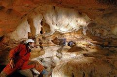 Geologiska bildande i en grotta Royaltyfri Foto