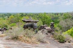 Geologiskt bildande av stenberget Arkivfoto