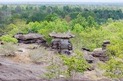 Geologiskt bildande av stenberget Royaltyfria Bilder