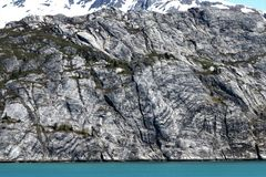Geologiskt vagga striations gör modeller royaltyfri foto