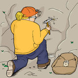 Geologist Collecting Samples Royalty Free Stock Image