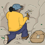 Geologist Getting Samples Stock Images