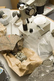 Geologist lab Stock Image