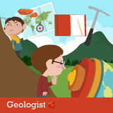 Geologist occupation vector Royalty Free Stock Photos
