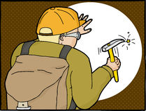 Geologist Working in Frame Stock Image
