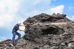 Geologo del carbone fotografie stock