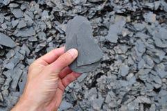 Geologo dello scisto dell'ardesia Fotografia Stock Libera da Diritti
