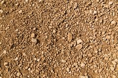 Rocky ground of desert. Geology, background and texture concept - rocky ground of desert royalty free stock images