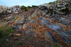 Rocks. In geology is called rock to the association of one or several minerals, natural, inorganic, heterogeneous, of variable chemical composition, without Royalty Free Stock Images