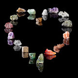 Geology collection of minerals Royalty Free Stock Images
