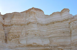 Geology Earthquake Layers, Israel. Chaotic geological layers caused by a historical earthquake in the Yehuda Desert, Israel Stock Image